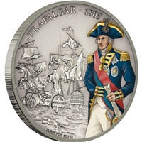 2017 Niue $2 Battles that Changed History - Battle of Trafalgar (No Tax)