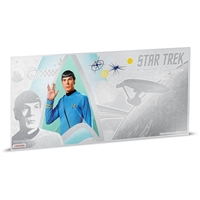 2018 Niue $1 Star Trek - Commander Spock 5g Silver Coin Note (No Tax)
