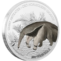 2018 Nicaragua C$100 Wildlife - Giant Anteater 1oz. Silver Proof (No Tax)