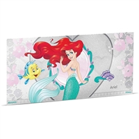 2018 Niue $1 Disney Princess - Ariel 5g Silver Coin Note (No Tax)