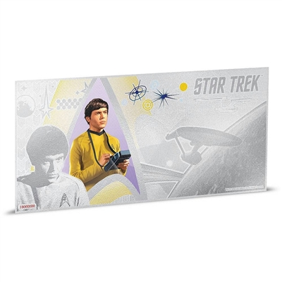 2018 Niue $1 Star Trek - Ensign Pavel Chekov 5g Silver Coin Note (No Tax)
