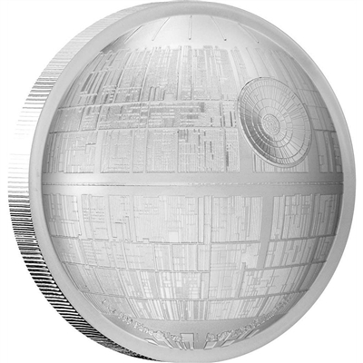 2018 Niue $5 Star Wars - Death Star Ultra High Relief 2oz. Silver (No Tax)