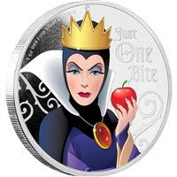 2018 Niue $2 Disney Villains - Evil Queen 1oz. Silver Coin (No Tax)