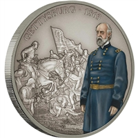 2018 Niue $2 Battles that Changed History - Gettysburg 1oz. Silver Proof (No Tax)