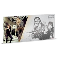 2018 Niue $1 Star Wars: A New Hope - Han Solo & Chewbacca 5g Silver Coin Note (No Tax)