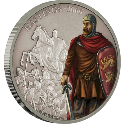 2018 Niue $2 Battles that Changed History - The Battle of Hastings Silver (No Tax)