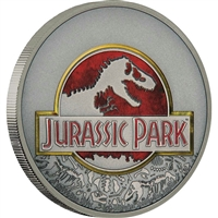 2018 Niue $2 25th Anniversary of Jurassic Park Antique Silver (No Tax)