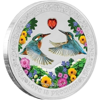 2018 Niue $2 Love is Precious - Kingfishers Proof Silver (No Tax)