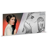 2018 Niue $1 Star Wars: A New Hope - Princess Leia Organa 5g Silver Coin Note (No Tax)
