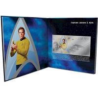 2018 Niue $1 Star Trek - Captain Kirk 5g Silver Coin Note with Collector's Album