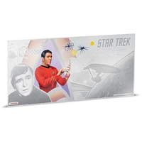 2018 Niue $1 Star Trek - Lt. Commander Scott 5g Silver Coin Note (No Tax)