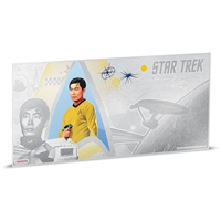 2018 Niue $1 Star Trek - Lt. Sulu 5g Silver Coin Note (No Tax)