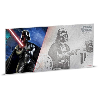 2018 Niue $1 Star Wars: A New Hope - Darth Vader 5g Silver Coin Note (No Tax)