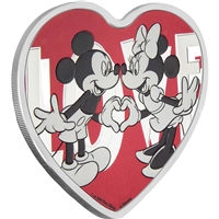 2018 Niue $2 Disney - With Love Heart Shaped Fine Silver (No Tax)