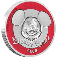 2019 Niue $5 Disney - Mickey Mouse Club Ultra High Relief Silver (No Tax)