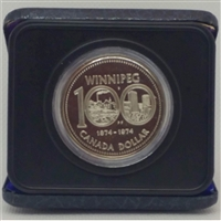 1974 Canada Cased Nickel Dollar - 100th Anniversary of Winnipeg