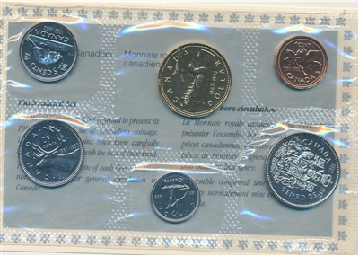 1992 Canada Proof Like Set (includes the scarce 1992 Caribou 25ct)