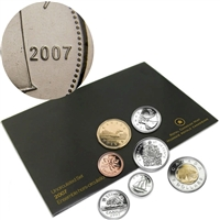 2007 Canada Curved 7 Variety (Regular) Proof Like Set