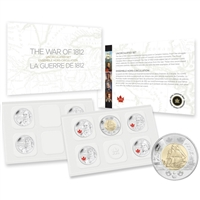 2013 Canada War of 1812 Special Edition Uncirculated Proof Like Set