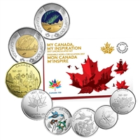 2017 (8-coin) My Canada, My Inspiration Uncirculated Proof Like Coin Set