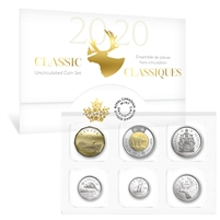 2020 Classic Canadian Uncirculated Proof Like Coin Set