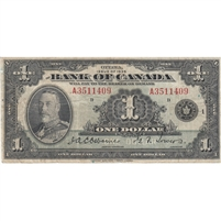 BC-1 1935 Canada $1 Osborne-Towers, English, Series A, Fine