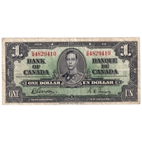 BC-21c 1937 Canada $1 Gordon-Towers, C/M, VF