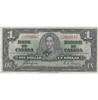 BC-21d Canada $1 1937 Coyne-Towers, L/N, VF