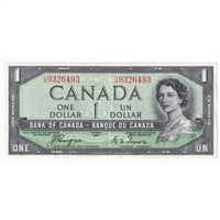 BC-29a 1954 Canada $1 Coyne-Towers, Devil's Face, C/A, EF-AU