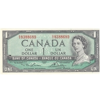 BC-37d 1954 Canada $1 Lawson-Bouey, D/I, UNC