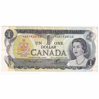 BC-46aA 1973 Canada $1 Lawson-Bouey, *AA, Extra Fine