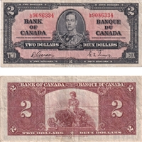 BC-22b $2 1937 Gordon-Towers, L/B, F-VF