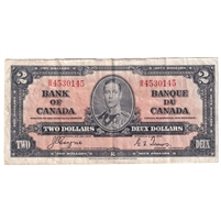 BC-22c 1937 Canada $2 Coyne-Towers, B/R, Very Fine