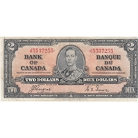 BC-22c 1937 Canada $2 Coyne-Towers, J/R, Very Fine