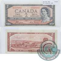 BC-30a 1954 Canada $2 Coyne-Towers, Devil's Face, A/B, VF-EF