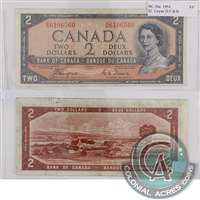BC-30a $2 1954 Coyne-Towers, Devil's Face, B/B, VF