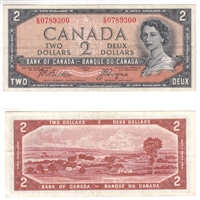 BC-30b $2 1954 Beattie-Coyne, Devil's Face, E/B, VF