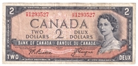 BC-30b 1954 Canada $2 Beattie-Coyne, Devil's Face, H/B, VF