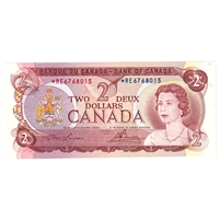 BC-47aA 1974 Canada $2 Lawson-Bouey, *RE, UNC