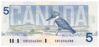 BC-56a 1986 Canada $5 Crow-Bouey, END, CUNC