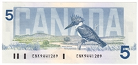 BC-56a 1986 Canada $5 Crow-Bouey, ENK, CUNC