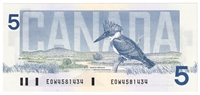 BC-56a-i 1986 Canada $5 Crow-Bouey, EOW, CUNC