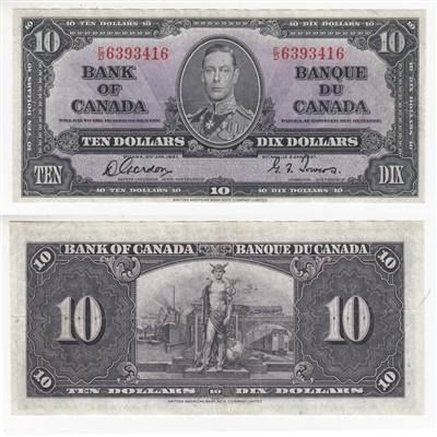 BC-24b $10 1937 Gordon-Towers, E/D, VF