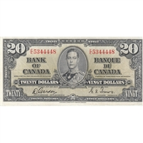 BC-25b 1937 Canada $20 Gordon-Towers, E/E, Fine