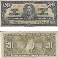 BC-25c $20 1937 Coyne-Towers, J/E, F-VF