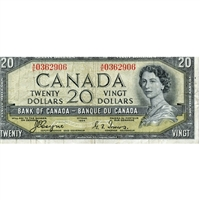 BC-33a $20 1954 Coyne-Towers, Devil's Face, A/E, VF