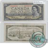 BC-33b $20 1954 Beattie-Coyne, Devil's Face, B/E, F-VF