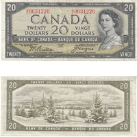 BC-33b $20 1954 Beattie-Coyne, Devil's Face, B/E, VF