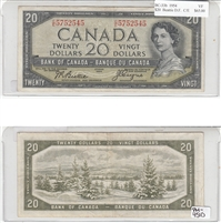 BC-33b Canada $20 1954 Beattie-Coyne, Devil's Face, C/E, VF
