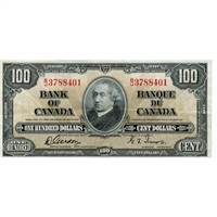 BC-27b 1937 Canada $100 Gordon-Towers, B/J, Very Fine